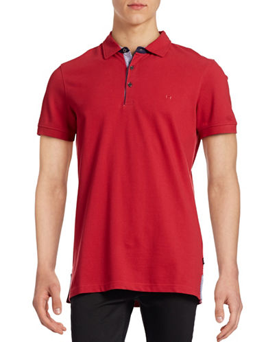 Horst Solid Pique Polo-RED-Large
