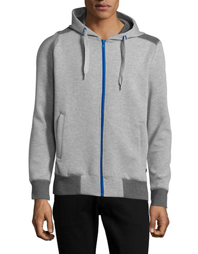 Horst Mesh-Knit Zip Hoodie-GREY-Small
