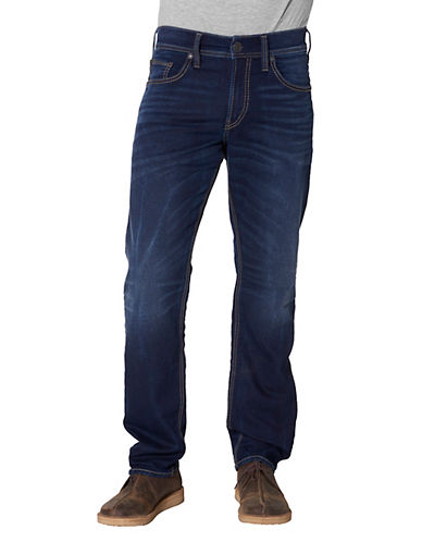 Silver Jeans Eddie Relaxed-fit Jeans-BLUE-34X32