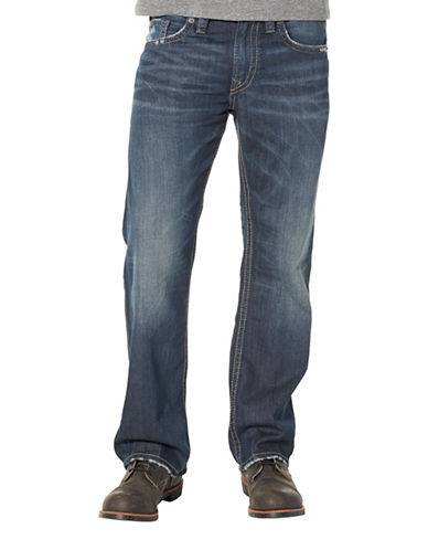 Silver Jeans Zac Five-Pocket Jeans-BLUE-31X34
