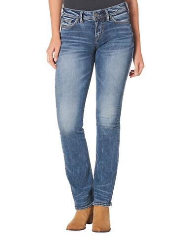Silver Jeans Suki High Slim Bootcut 33-Inch Leg Jeans-BLUE-34