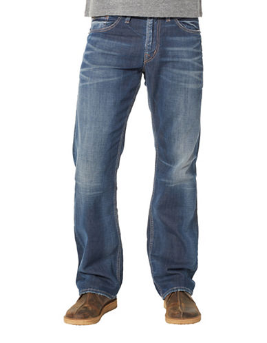 Silver Jeans Zac Relaxed-fit Jeans-BLUE-40X32