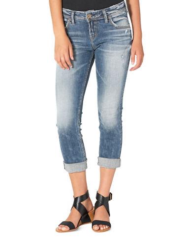 Silver Jeans Sam Mid-Rise Boyfriend Jeans-INDIGO-28