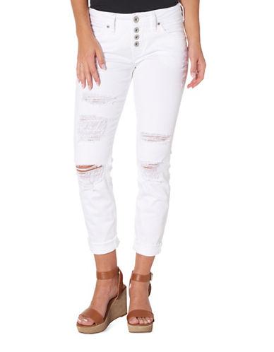 Silver Jeans Sam Mid-Rise Boyfriend Jeans-WHITE-28X26