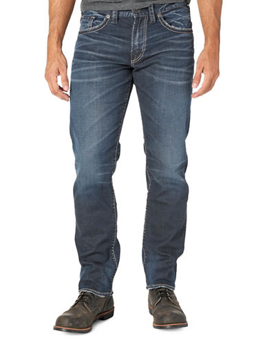 Silver Jeans Eddie Stretch Jeans-BLUE-40X34