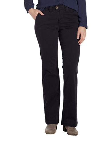 Jag Jeans Eyelet Standard Trousers-BLACK-10