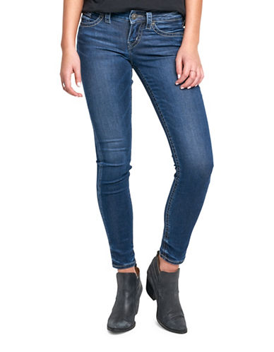 Silver Jeans Berkley Skinny Jeans-INDIGO-28X29