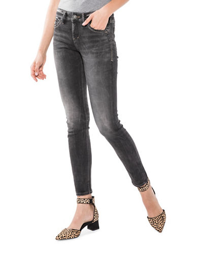 Silver Jeans Aiko Skinny Jeans-BLACK-34X31