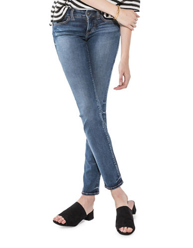 Silver Jeans Suki Mid-Rise Straight Jeans-INDIGO-32X30