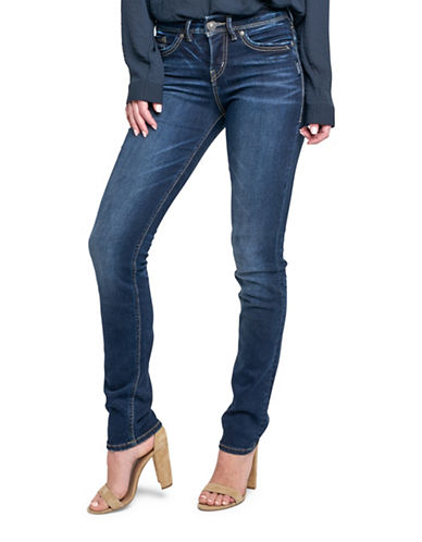 Silver Jeans Avery High-Rise Straight Jeans-INDIGO-29X34