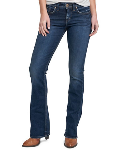 Silver Jeans Avery High-Rise Slim Bootcut Jeans-INDIGO-27X35