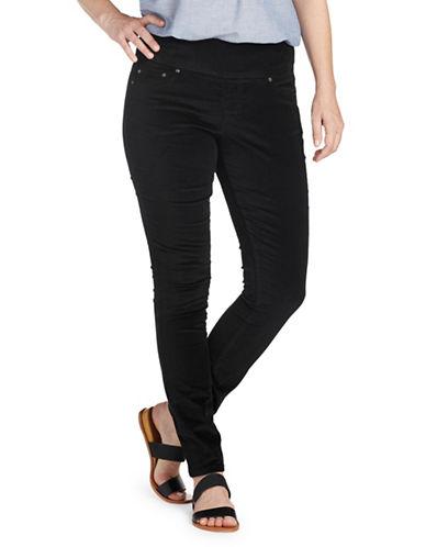 Jag Jeans Banded-Waist Skinny Jeans-BLACK-4