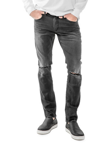 Silver Jeans Taavi Faded Stretch Jeans-BLACK-33X32