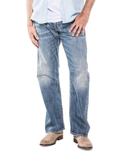 Silver Jeans Zac Casual Stretch Jeans-BLUE-33X36