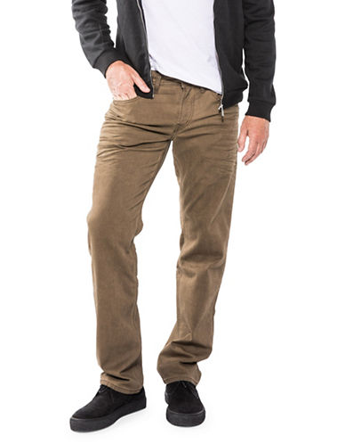 Silver Jeans Eddie Tapered Chinos-BROWN-34X32
