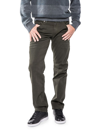 Silver Jeans Eddie Tapered Chinos-GREEN-34X32