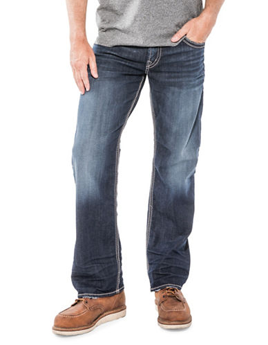 Silver Jeans Gordie Whiskered Stretch Jeans-BLUE-42X32