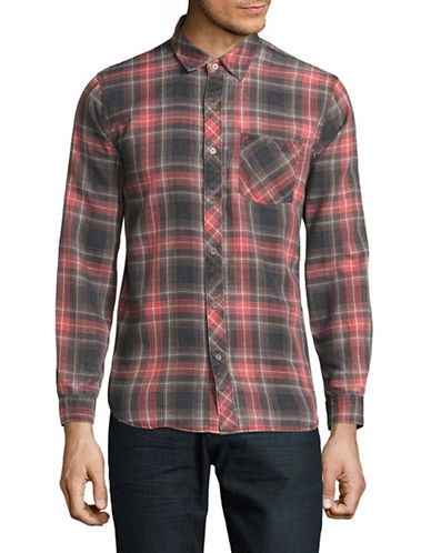Kuwalla Tee Plaid Flannel Shirt-RED-Large