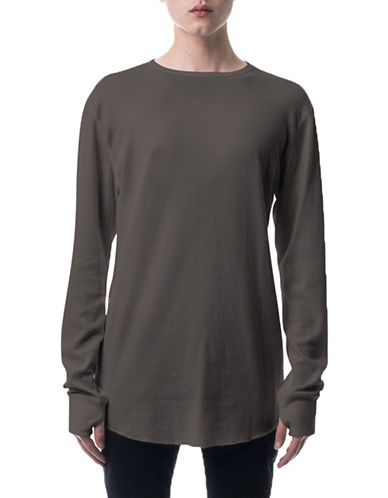 Kuwalla Tee Underscoop Thermal T-Shirt-GREY-Small