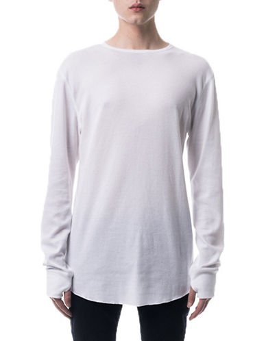 Kuwalla Tee Underscoop Thermal T-Shirt-WHITE-Small