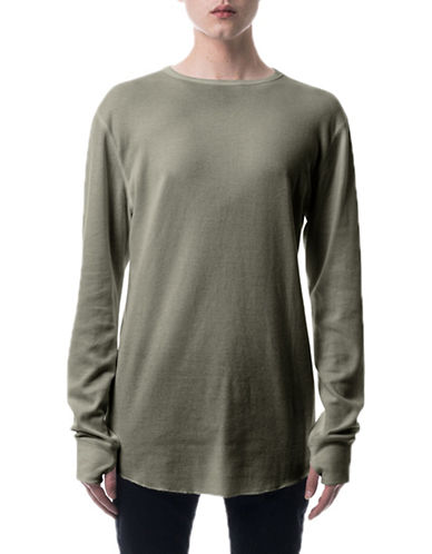 Kuwalla Tee Underscoop Thermal T-Shirt-GREEN-X-Large