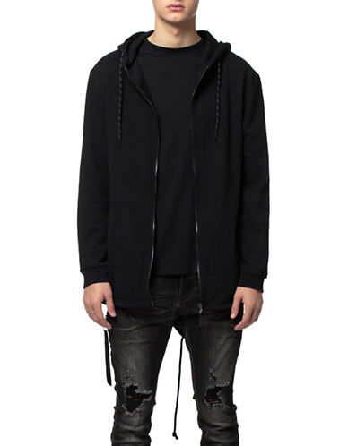 Kuwalla Tee Terry Knitted Parka-BLACK-Small