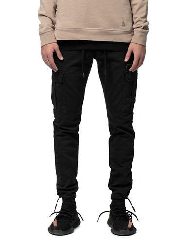 Kuwalla Tee Hybrid Cargo Trousers-BLACK-Small