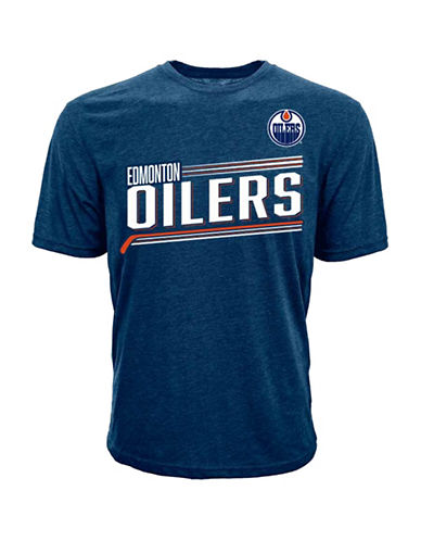 Levelwear Short-Sleeve Oilers McDavid Tee-NAVY-Medium