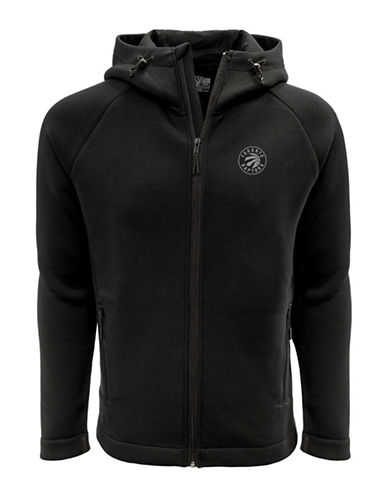 Levelwear Toronto Raptors Thermal Cell Fleece Hoodie-BLACK-X-Large