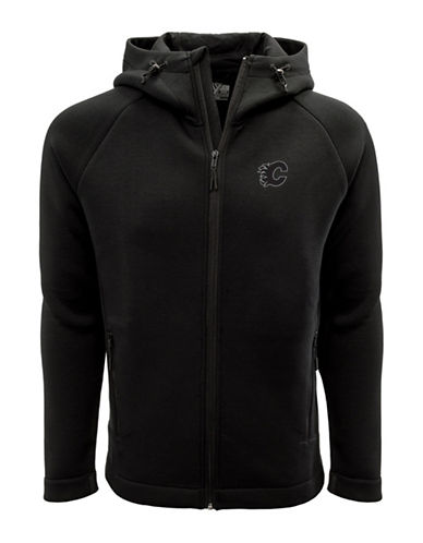Levelwear Calgary Flames Thermal Cell Fleece Hoodie-BLACK-X-Large