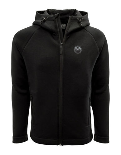 Levelwear Edmonton Oilers Thermal Cell Fleece Hoodie-BLACK-Medium