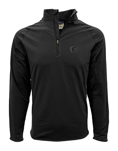 Levelwear Calgary Flames Half Zip Sweatshirt-BLACK-Medium