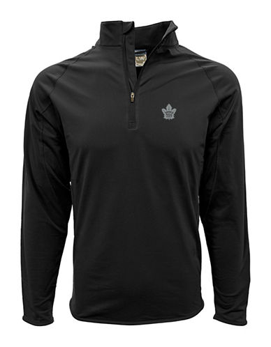 Levelwear Toronto Maple Leafs Half Zip Sweatshirt-BLACK-Small