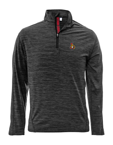 Levelwear Ottawa Senators Quarter-Zip Pullover-CHARCOAL-Small