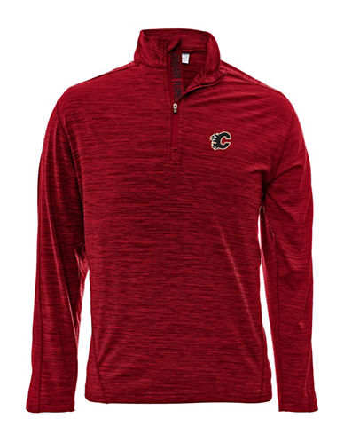 Levelwear Calgary Flames Quarter-Zip Pullover-RED-Large