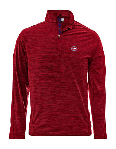 Levelwear Montreal Canadiens Quarter-Zip Pullover-RED-Small