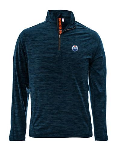 Levelwear Edmonton Oilers Quarter-Zip Pullover-NAVY-Small