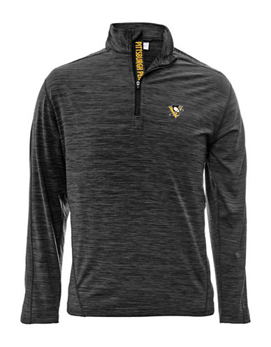 Levelwear Vegas Golden Knights Quarter-Zip Pullover-CHARCOAL-Small