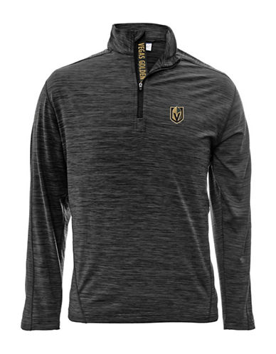 Levelwear Vegas Golden Knights Quarter-Zip Pullover-CHARCOAL-X-Large