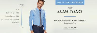 Men\u0027s slim dress shirts by ralph lauren, calvin klein, black brown 1826 and  more