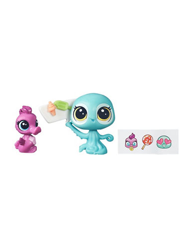 Littlest Pet Shop Coralina Reefton and Aya Waterly Toy Set-MULTI-One Size