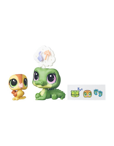 Littlest Pet Shop Pets In The City Alia Lagarto and Dabble Von Quack-MULTI-One Size
