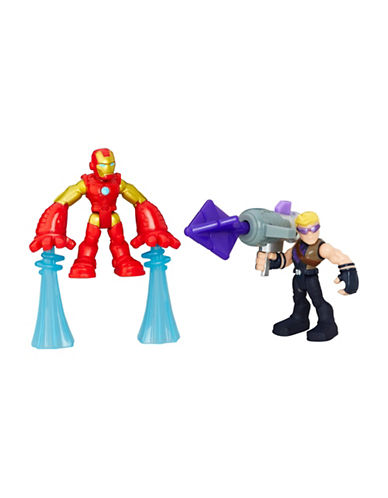 Playskool Marvel Super Hero Adventures Iron Man and Hawkeye Figures-MULTI-One Size 88920090_MULTI_One Size