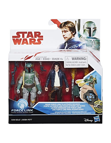 Star Wars Two-Pack Star Wars Han Solo and Boba Fett Set-MULTI-One Size