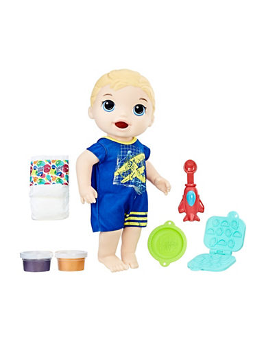 Baby Alive BA Snackin Luke Doll - Blonde-MULTI-One Size
