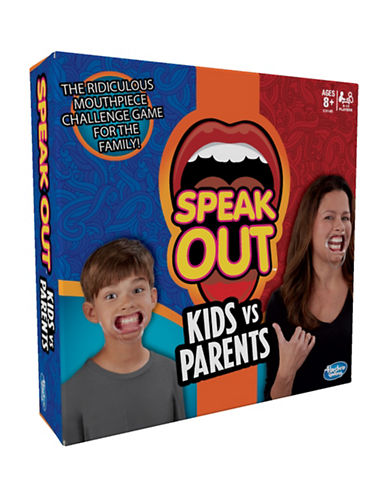 Hasbro Speak Out Kids vs Parents Game - English Version-MULTI-One Size