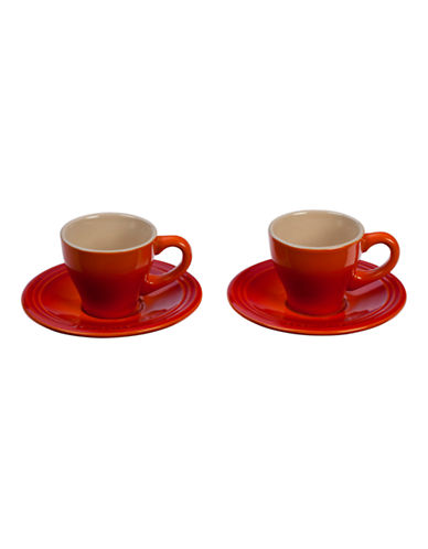 Le Creuset Four-Piece Espresso Cup Set-FLAME-0.5