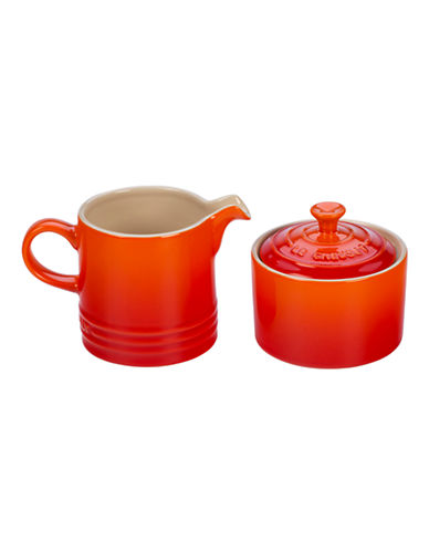 Le Creuset Cream and Sugar Set-FLAME-One Size