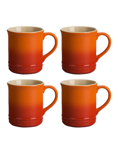 Le Creuset Set Of Four Mugs-FLAME-One Size