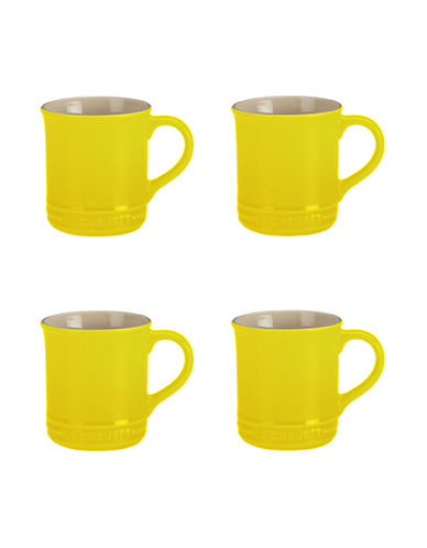 Le Creuset Set Of Four Mugs-SOLEIL-One Size